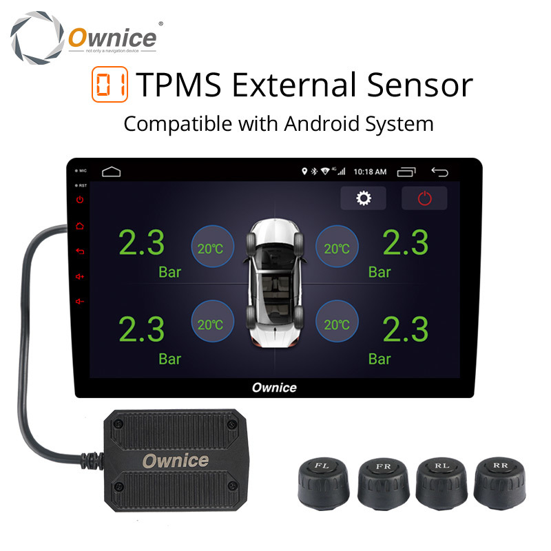 Ownice Usb Android Tpms Tire Pressure Monitor Android Navigation Pressure Monitoring Alarm System Wireless Transmission Tpms