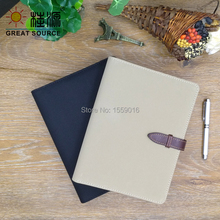 Notebook folder bill matte PU cover 6 rings easily replace 2017 notebook agenda planner
