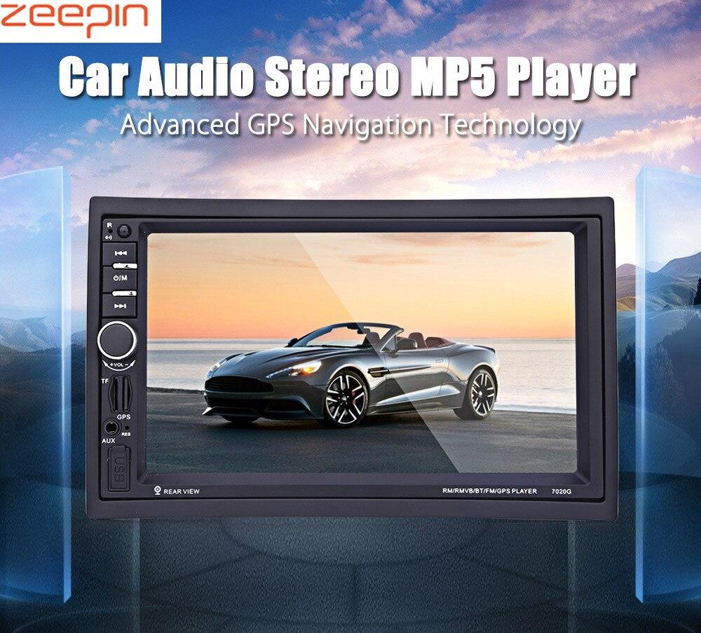 Dégagement! Zeepin 7020G 7 pouces voiture Audio stéréo lecteur MP5 12 V Auto vidéo télécommande caméra de recul GPS fonction de Navigation