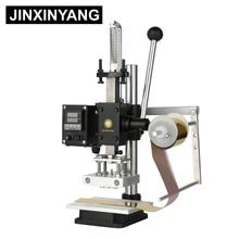 JINXINYANG Hot Foil Stamping Machine leather Wood Paper Branding Logo Marking Press Machine Leather Embossing Machine