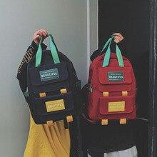 все цены на Large Capacity Backpack Women Preppy School Bags For Teenage Girls Female Nylon Travel Bags Bowknot Bagpack sac a dos онлайн