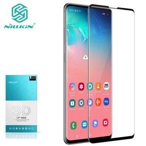 Image 1 - Für Samsung Galaxy S10 + Plus Gehärtetem Glas NILLKIN 3D CP + MAX Sicherheit Schutz Screen Protector für Samsung S10 plus S10e