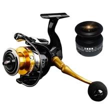 купить Spinning Fishing Reel 14+1 Bearing Balls Double Spool Fishing Reel 5.5:1 Gear Ratio High Speed Carp Fishing Reel For Saltwater недорого
