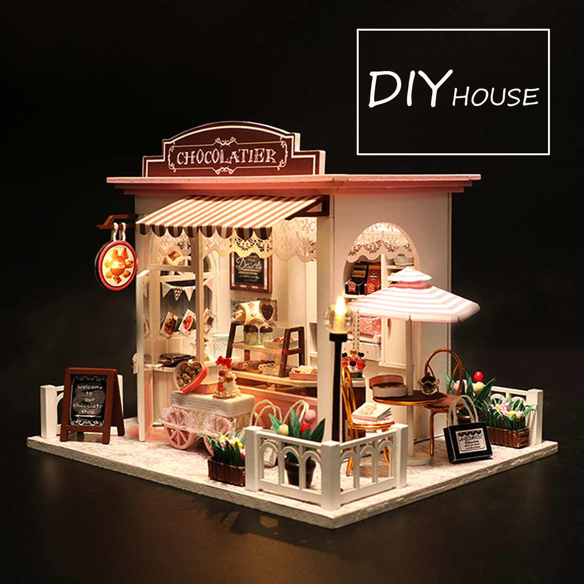 Doll House Miniature with Furniture DIY Wooden Miniature Dollhouse Toys for Children GiftDoll House Miniature with Furniture DIY Wooden Miniature Dollhouse Toys for Children Gift