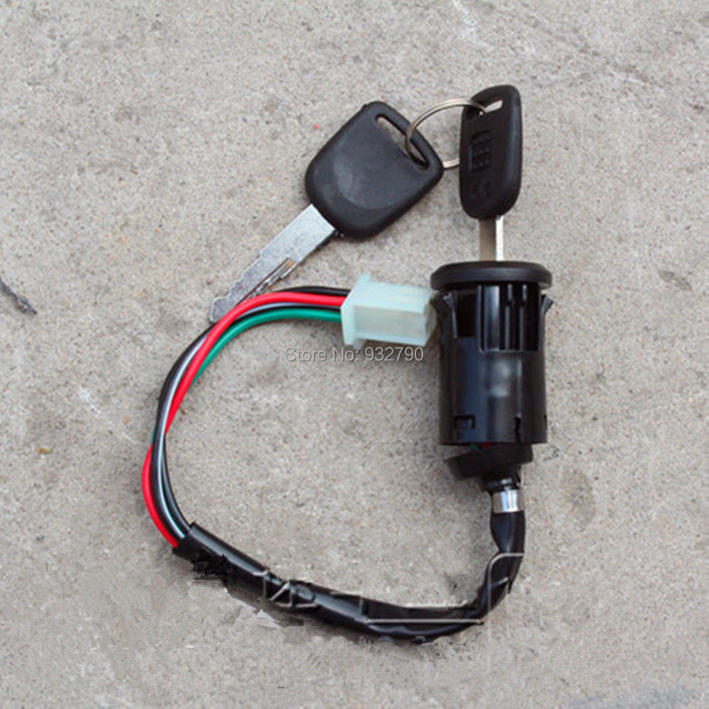 4 wire atv ignition switch wiring motorcycle 4 wire ignition key switch with 2 keys [ 1000 x 1000 Pixel ]