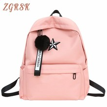 Student Canvas Bags Fashion High Middle School Both Shoulders Large Capacity Leisure Time Bag Travel Backpack Schoolbags