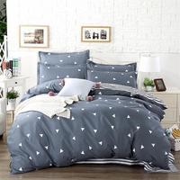 wholesale quality blue Pink Purple comforter Bedding Set King Size Flaming duvet cover Set+flat bed linen+Pillowcase40
