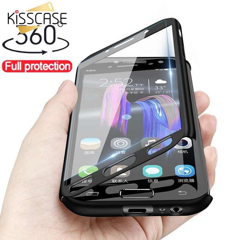 KISSCASE 360 Degree Full Coverage Case For Samsung J4 J6 A7 A8 2018 A5 Case For Samsung Galaxy S10 S9 S8 Plus S7 Note 8 9 Coque