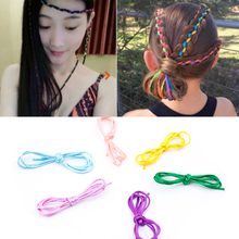 Sale 5PCS/Set New Korean Girls Braided Hair Rope Ring Wire Band
