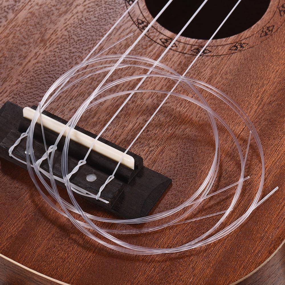 4 Pcs/set Soprano Ukulele Ukelele Uke Strings Set Nylon Ukulele Strings Replacement Part Stringed Instrument4 Pcs/set Soprano Ukulele Ukelele Uke Strings Set Nylon Ukulele Strings Replacement Part Stringed Instrument