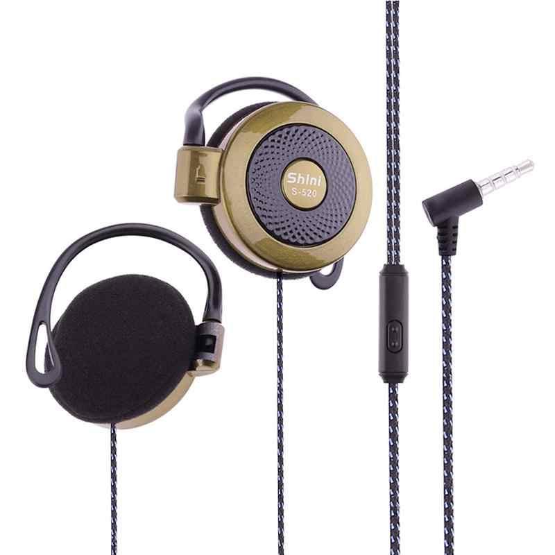 S-520 3.5 مللي متر ستيريو الأذن هوك لعبة الرياضة الترفيه الهاتف المحمول العالمي سماعة الأذن هوك السلكية سماعات رياضية ل هاتف ذكي