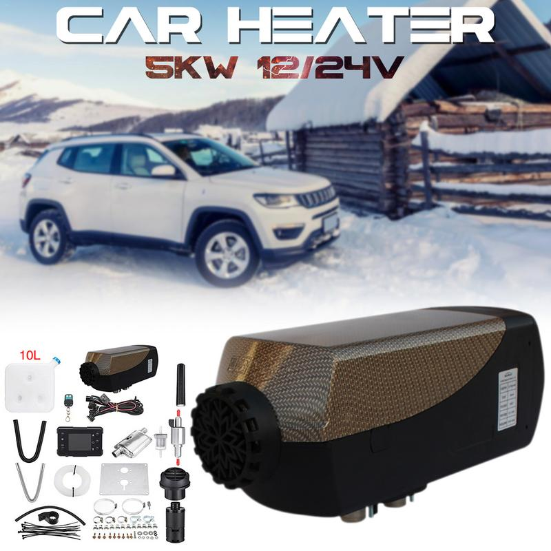Car Heater 5KW 12V Air Diesels Heater Parking Heater With Remote Riscaldatore LCD Monitor 5000W +Remote Control+ Silencer|A/C & Heater Controls| |  - title=