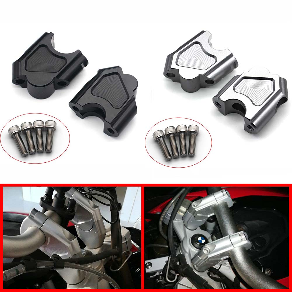 Motorcycle Accessories Handle Bar Clamp Raised Extend Handlebar Mount Riser For BMW F700GS F700 GS F650 GS F700 GS