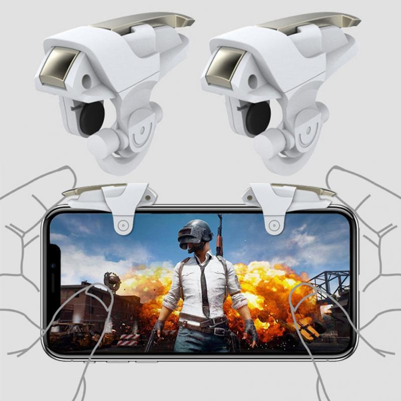 1Pair Mobile Phone Gaming Trigger Controller Shooter Fire Button Handle For PUBG/Rules Of Survival #1102-in Gamepads from Consumer Electronics