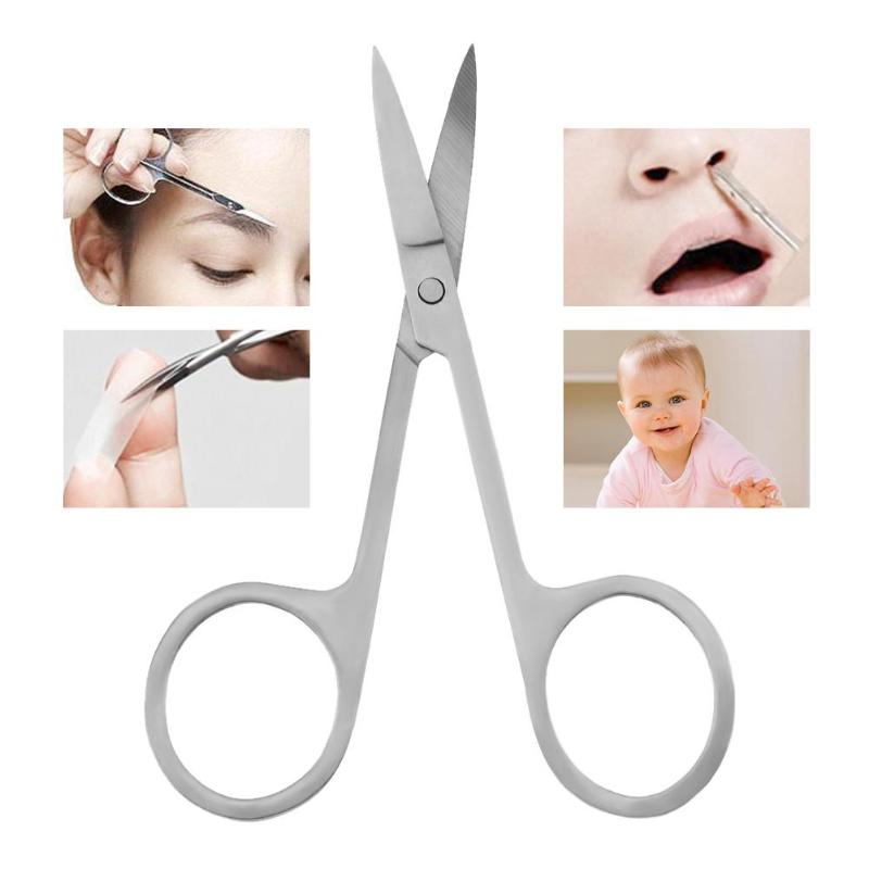 2pcs/Set Stainless Steel Beauty Makeup Mini Small Scissors Eyebrow Nose Hair Manicure Pedicure Shears Cosmetics Tool