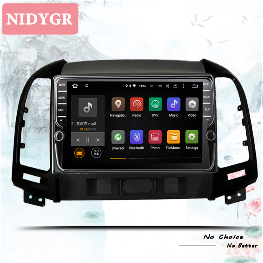 8 Core Android 10.0 64GB ROM DVD Player Bluetooth <font><b>GPS</b></font> Navigation Radio for 2005-2012 <font><b>HYUNDAI</b></font> <font><b>SANTA</b></font> <font><b>FE</b></font> Head Unit with WIFI Carply image