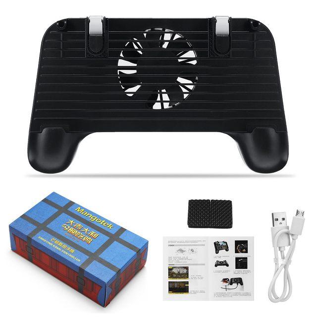 4 в 1 охлаждающий вентилятор Радиатор рукоятка перезаряжания геймпад держатель джойстика игровой контроллер power Bank для мобильного телефона для PUBG