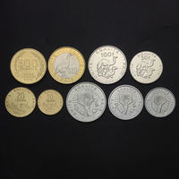 Djibouti Set 9 Coins, 1 2 5 10 20 50 100 250 500 Francs, 1977 2016, UNC, Collection,100% Real Original Genuine coin, Africa