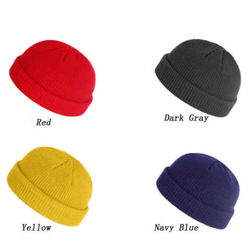 ... 1pc Unisex Men Women Beanie Hat Warm Ribbed Winter Turn Ski Solid  Fisherman Docker Cap Fashion e3040c623c8b