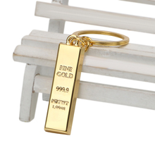LEEPEE Metal Key Holder Creative Gold Bar Keychain Key Chain Auto Pendant Auto Accessories Car Keyring Bullion Key Rings