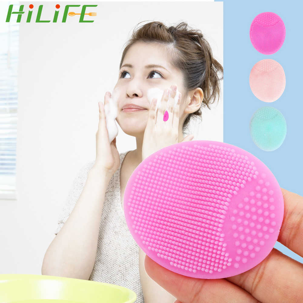 HILIFE Face Wash Pad  Baby Shower Super Soft Facial Clean Brush Sponges Scrubbers to Exfoliating SPA Blackhead