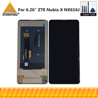 Original Axisinternational For 6.26 ZTE Nubia X NX616J LCD Display Screen+Touch Panel Screen Digitizer For Zte NubiaX Display