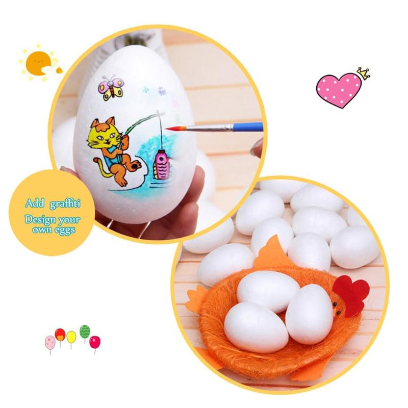 10pcs/30pcs Easter Eggs Modelling Foam Balls White Craft Easter Egg Ball For Diy Party Decoration Supplies Kindergarten Gifts