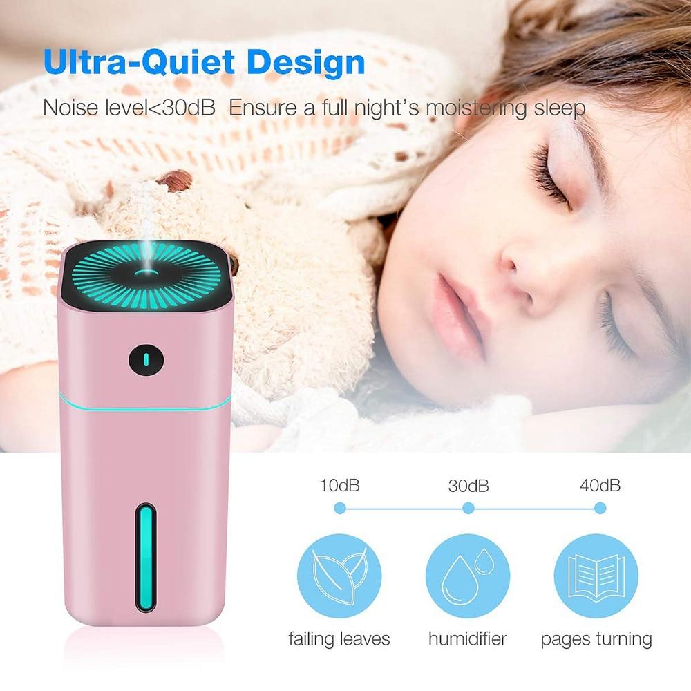 Mini usb umidificador 180 ml umidificador de ar difusor quarto umidificador desktop com 7 led desligamento automático para o bebê