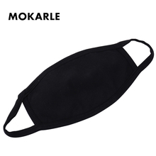 Expression Mouth Mask Anime Cotton Black  Unisex Mouth-muffle Dustproof Respirator Cute Anti-Dust Covers