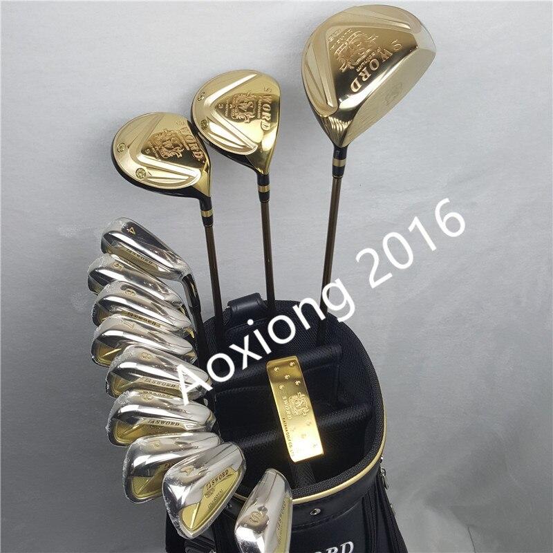 Golf club katana épée club set pilote + 3/5 fairway bois + fers + putter et Graphite Golf arbre pas de sac
