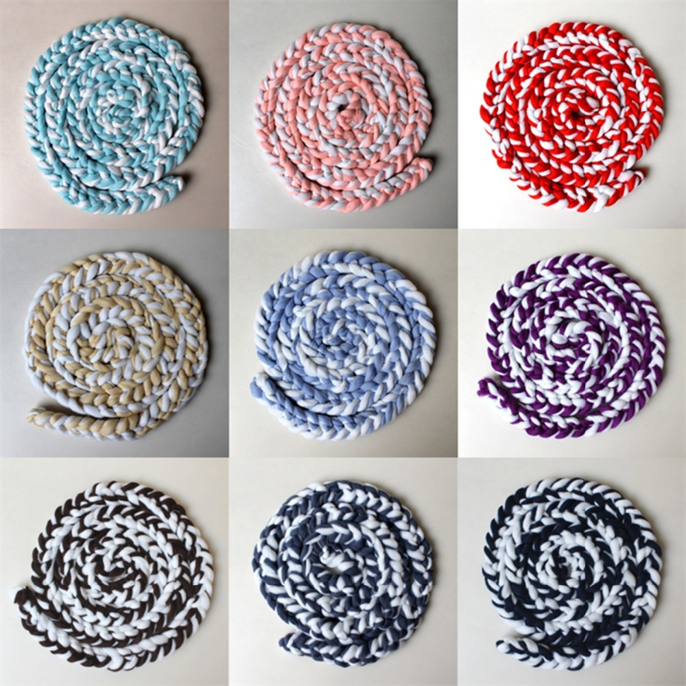 Newborn Baby Photography Props Roving Yarn Twist Blanket Newborn Photography Background Baby Photo Props Accessories Carpet Mats