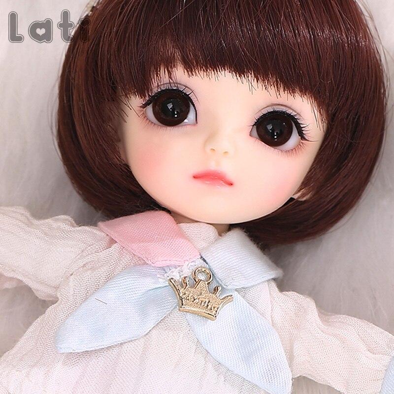 1//8 Bjd Doll SD Baby Lea Free face make up+eyes Mini Cute Resin Figure Toys