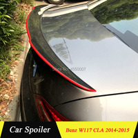 For Mercedes Cla W117 Spoiler Carbon Fiber Rear Wing Spoiler With Red Line For Mercedes-Benz CLA W117 Spoiler 2014-2015