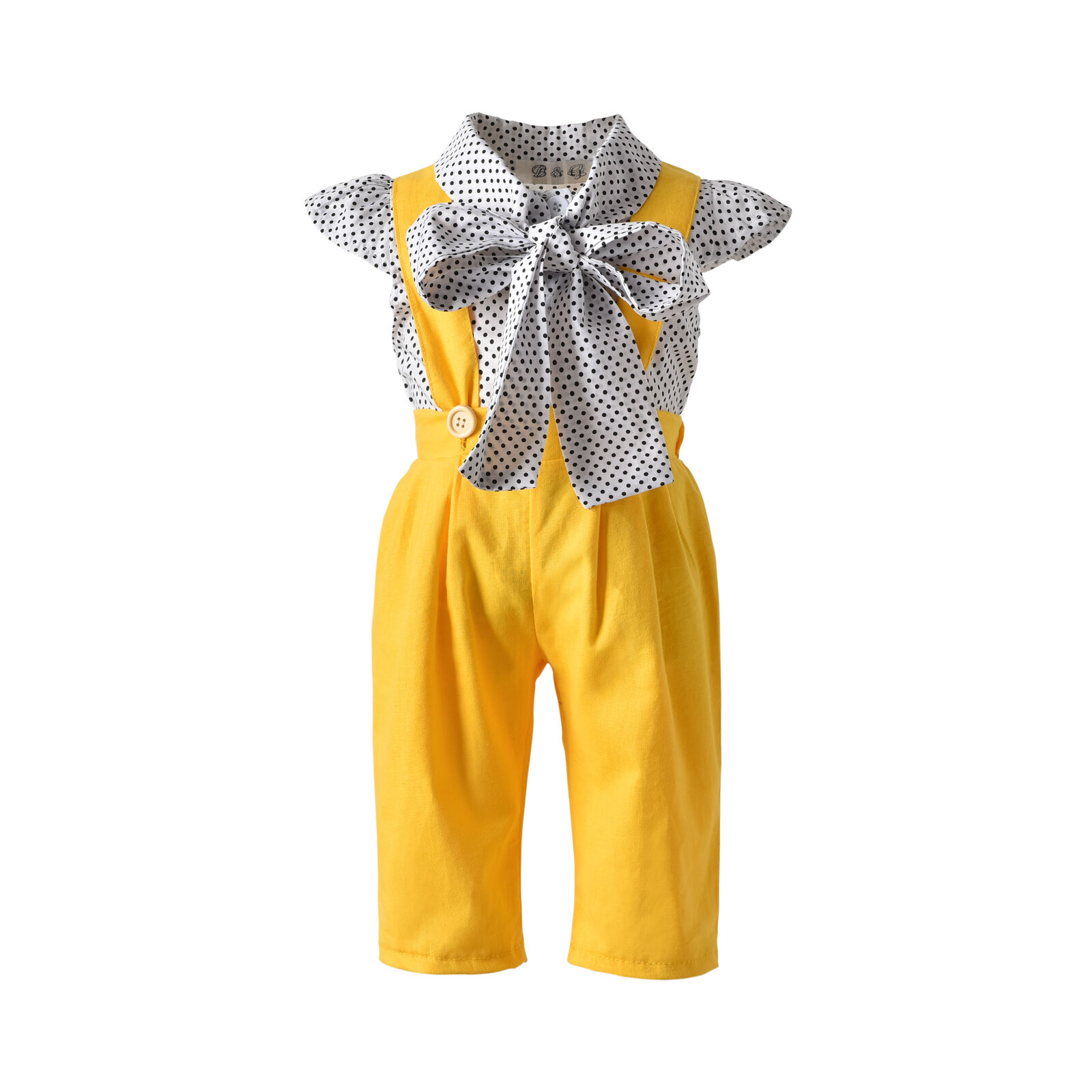 Objective 2019 Newest Style Newborn Kids Baby Girl Spring Summer Bowknot Short Sleeve Tops+suspender Pants Outfits Sunsuit Set 6m-5y To Invigorate Health Effectively Clothing Sets