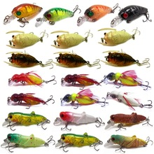 CATCHSIF 23pcs Hard Insects minnow baits fishing lures kit cicada Locust Feather Cricket Crank Topwater Lifelike
