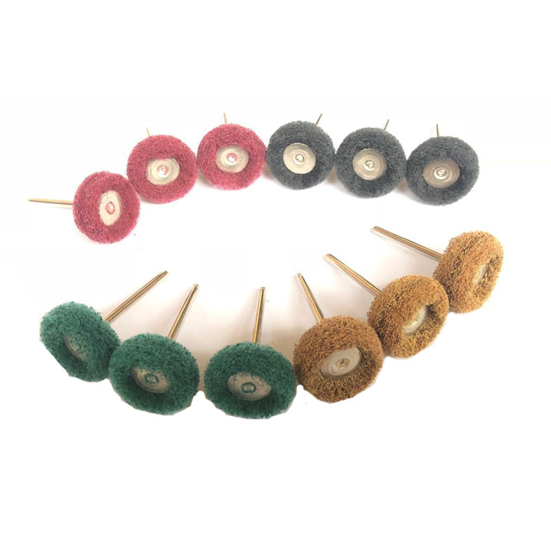 New 12pcs Electric Grinding Accessories Abrasive Wheel Nylon Fiber Engraving Sanding Head Buffing Polishing Wheel For Dremel