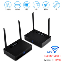 measy HD595 450m Wireless HDMI Extender TV Audio Video Transmitter and Receiver, Digital Signal Transmission Full HD 1080P 3D HD