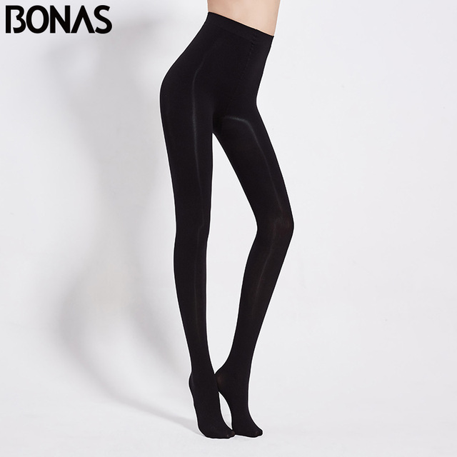BONAS 80D Women Spring Tights High Elastic Solid  Autumn Pantyhose Women Sexy Slim Legins Female Tights Plus Size collant Femme 3