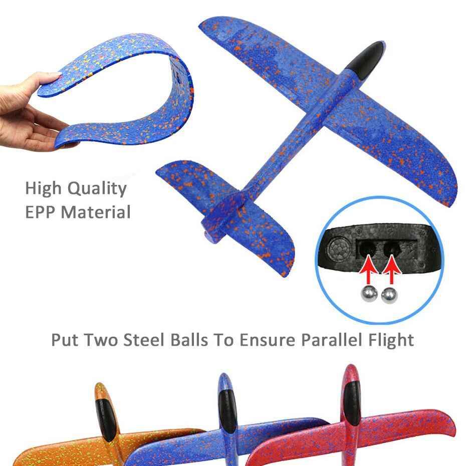 Купить 1, чтобы отправить 1 epp пена ручной бросок самолет Открытый Запуск Plane Самолет дети подарок игрушка 48 см интересные игрушки