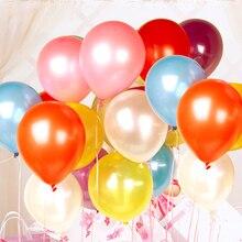 100 шт воздушные шары на день рождения цветные яркие жемчужные латексные шары уплотненные жемчужные вечерние воздушные шары Детские воздушные шары для свадебной вечеринки разных цветов