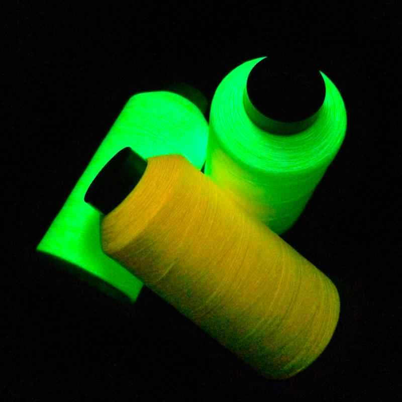 8 colori 1000 Yards Spool Luminoso Glow In The Dark Macchina FAI DA TE Filo Da Ricamo per Cucire