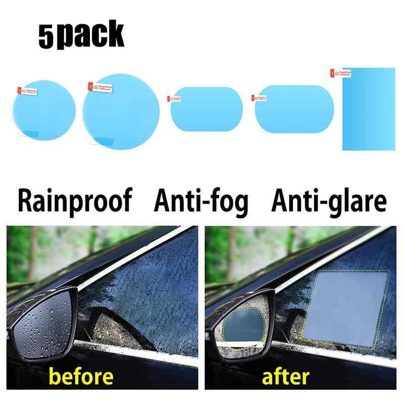 2Pcs Car Anti Water Mist Film Anti Fog Coating Rainproof Rearview Mirror Film