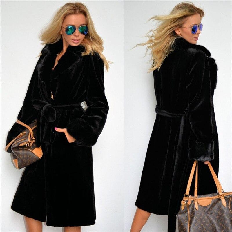 Manteau Long Produit 2018 Fourrure Imitation Black Peluche Nouveau Femmes Automne En Épais De Coton Tempérament hiver Vêtements Chapeau rembourré Mode q6x0qFCw