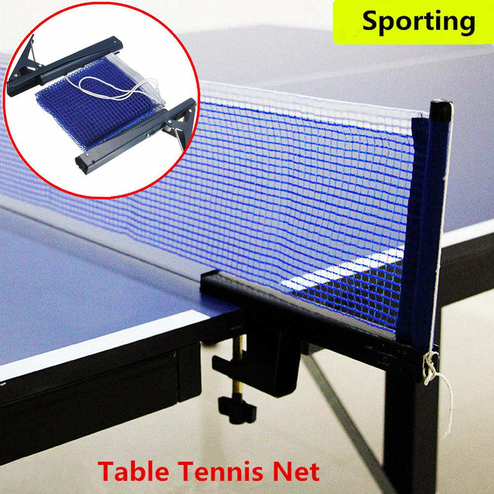 Table Tennis Ping Pong Net Replacement Indoor Game Post Clamp Stand Set Training Table Tennis Accessories