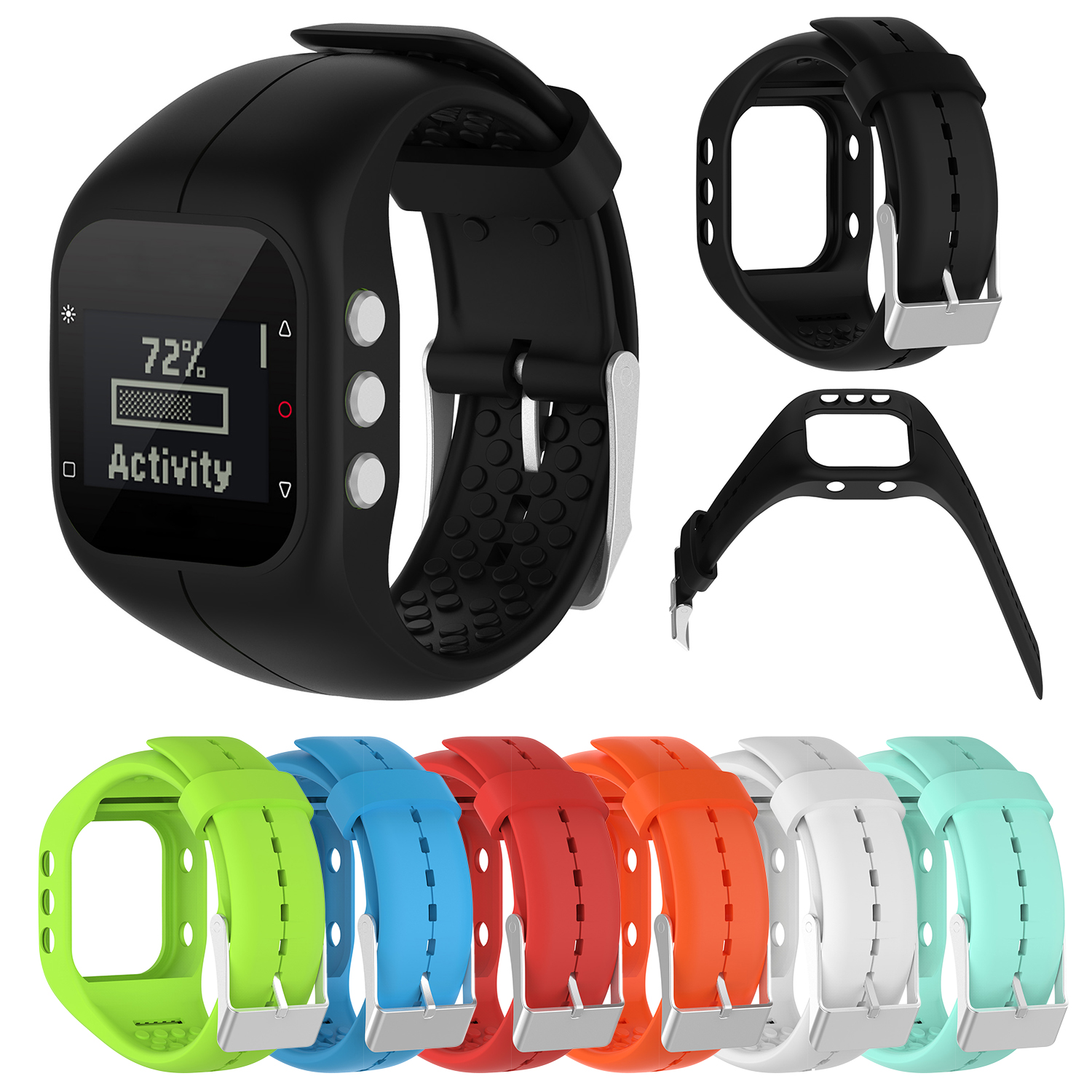 Silicone Fitness Replacement Band Wrist Strap For Polar A300 Smart Watch Accessories Fitness Watch Sport Watch Band