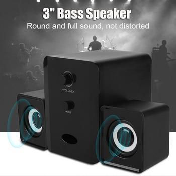 Ostart D-201 USB Wired Combination Speaker Portable Wired Tablet Computer Speaker Stereo Sound Speakers for Laptops PC Subwoofer