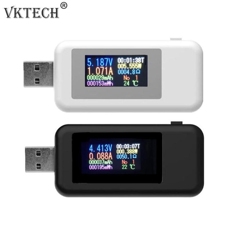 10 в 1 цифровой дисплей 4-30 в DC USB тестер, индикатор напряжения, зарядное устройство, аккумулятор, емкость батареи, вольтметр, детектор