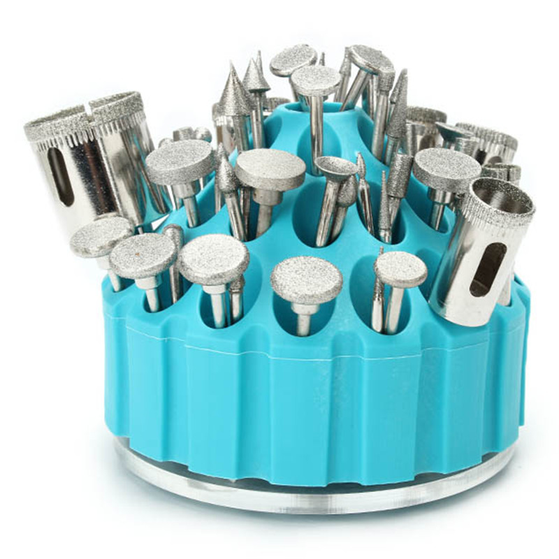 1Pcs 35 Holes Munti-tool Holder Jade Carving Tools Box Engraving Storage Box Rotary Tool Finishing Frame Display Tools
