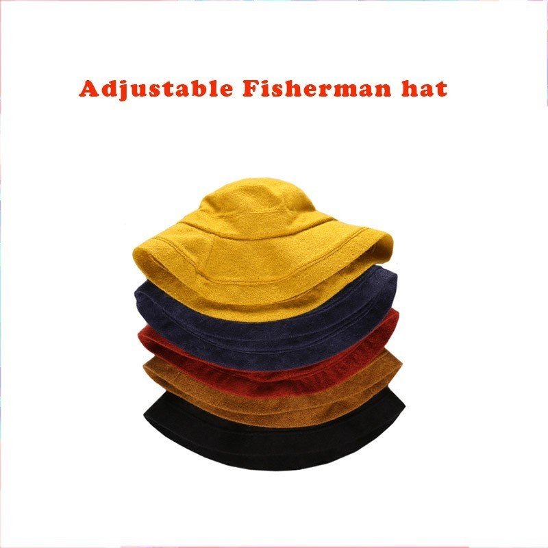 Fisherman Hat Woman Japanese Spring Summer Travel Tide All-match Sunhat Fashion Bucket Hats Knit Cap Adjustable