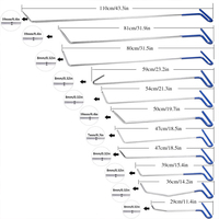 Супер PDR инструменты 11 шт. синий Professional лом крючки стержни крюк PDR стержни Нержавеющая сталь Авто Paintless Дент Ремонт Наборы